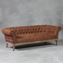 Leather and Tartan St. Andrews Sofa