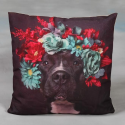 Red Wreath Dog Cushion