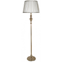 Sandringham Gold Floor Lamp With Ivory And Silver Shade