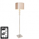 Mercury Floor Lamp With Champagne Shade
