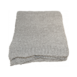 Natural Millange Moss Stitch Throw