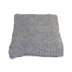 Grey Millange Moss Stitch Throw