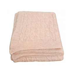 Pink Wool Twist Throw
