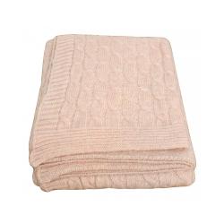 Pink Wool Twist Throw