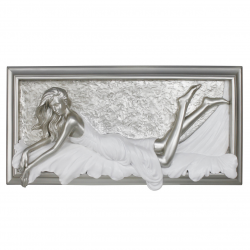 "Silver and White Passion Plaque ""Beauty"""