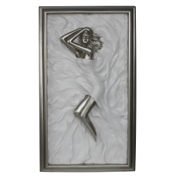 "Silver and White Passion Plaque ""Marilyn"""