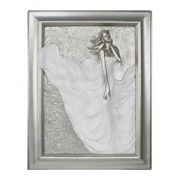 """Silver and White Passion Plaque """"Divine"""""""