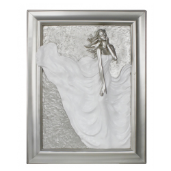 "Silver and White Passion Plaque ""Divine"""
