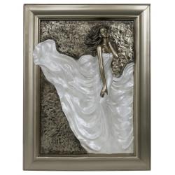 "Bronze and Pearl Passion Plaque ""Divine"""