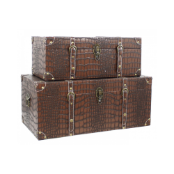 Around the World Crocodile Skin Chest Set
