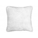 White Alaska Faux Fur Cushion