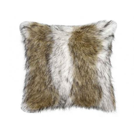 Brown Sable Faux Fur Cushion