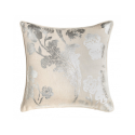 Shiny Silver Floral Cushion
