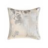 Shiny Silver Floral Cushion