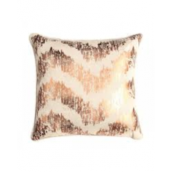 Shiny Copper Waves Cushion
