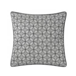 Soft Grey Geometric Star Cushion