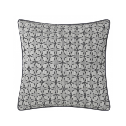 Soft Grey Geometric Star Cushion