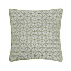 Olive Green Star Geometric Cushion