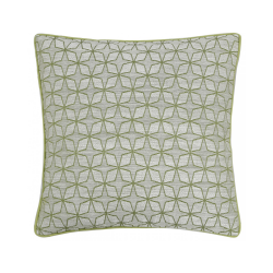 Olive Green Star Geometric Cushion