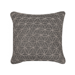 Charcoal Floral Felt Cushion