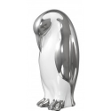 Small White and Silver Art Deco Penguin Decoration (13cm)