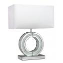 Small Diamond Crush 'O' Lamp with White Shade