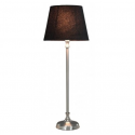 Chrome Buffet Table Lamp with 8 inch Black Snakeskin Shade