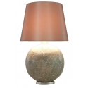Mercury Mosaic Large Ball Table Lamp with 18 inch Champagne Shade