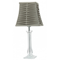 Balmoral Acrylic Table Lamp with Pleated Dark Taupe Shade