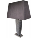 Pewter Grey Bahama Large Table Lamp with 20 inch Black Shade