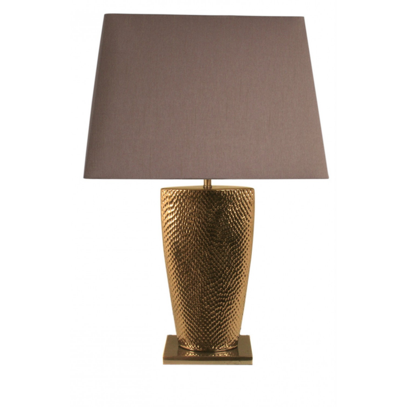gold bahama large table lamp with 20 inch chocolate shade. Black Bedroom Furniture Sets. Home Design Ideas