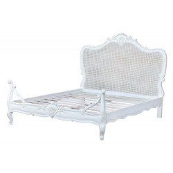 French Styles Distress White Bed