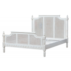 Astonia Antique White Bed