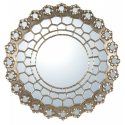 Silver Gilt Leaf Persian Constellation Mirror