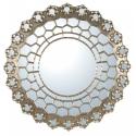 Silver Gilt Leaf Persian Constellation Mirror