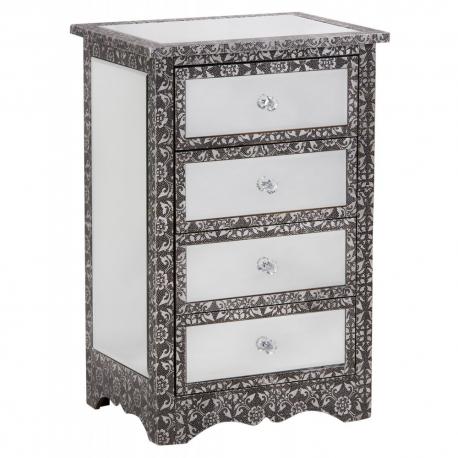 Mirror Chaandhi Kar 4 Drawer Cabinet