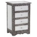 Mirror Chaandhi Kar 4 Drawer Cabinet