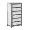 Mirror Chaandhi Kar Tallboy Chest of Drawers