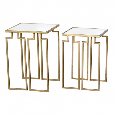 Gin Shu Parisienne Metal nest of tables-2