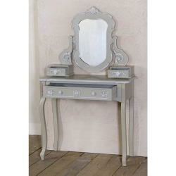 Charmont Gris Grey Console Table with Mirror