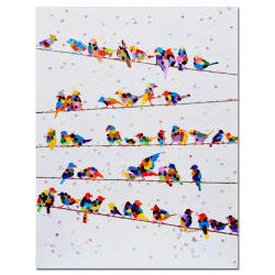 Acrylic Canvas Wall Art Birds on Wires