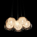 Wire Ball Glass Shade Chandelier