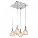 Pear Drop Four Bulb Pendant Light
