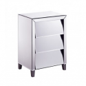 Slanted Mirrored Bedside Cabinet