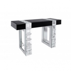 Mirrored Cubic Console Table