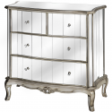 Argente Mirrored Two Over Two Chest of Drawers