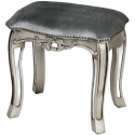 Argente Mirrored Dressing Table Stool