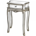 Argente Mirrored 1 Drawer Lamp Table