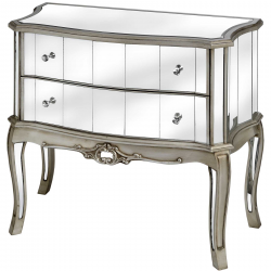 Argente Mirrored Two Drawer Chest