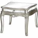 Argente Mirrored One Drawer Low Table